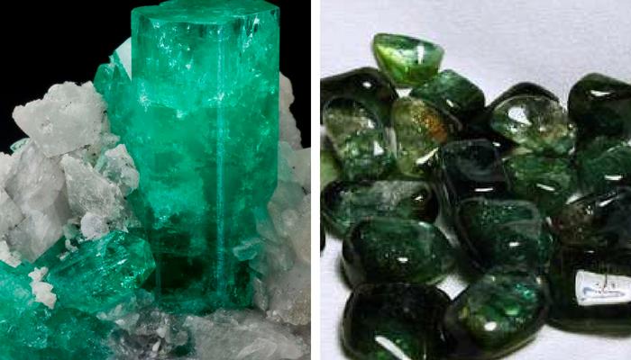 smeraldo e tormalina verde