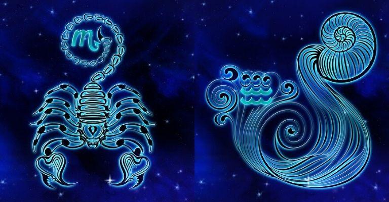 Scorpione e acquario